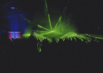 Lasershow mit Hochzeitsgesellschaft