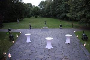Aufbau einer Hochzeitslasershow